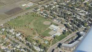 vIew of our school from Ms B.'s airplane (2013)