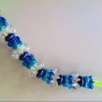 Student groups collaborated to make a bead pattern with repeating core